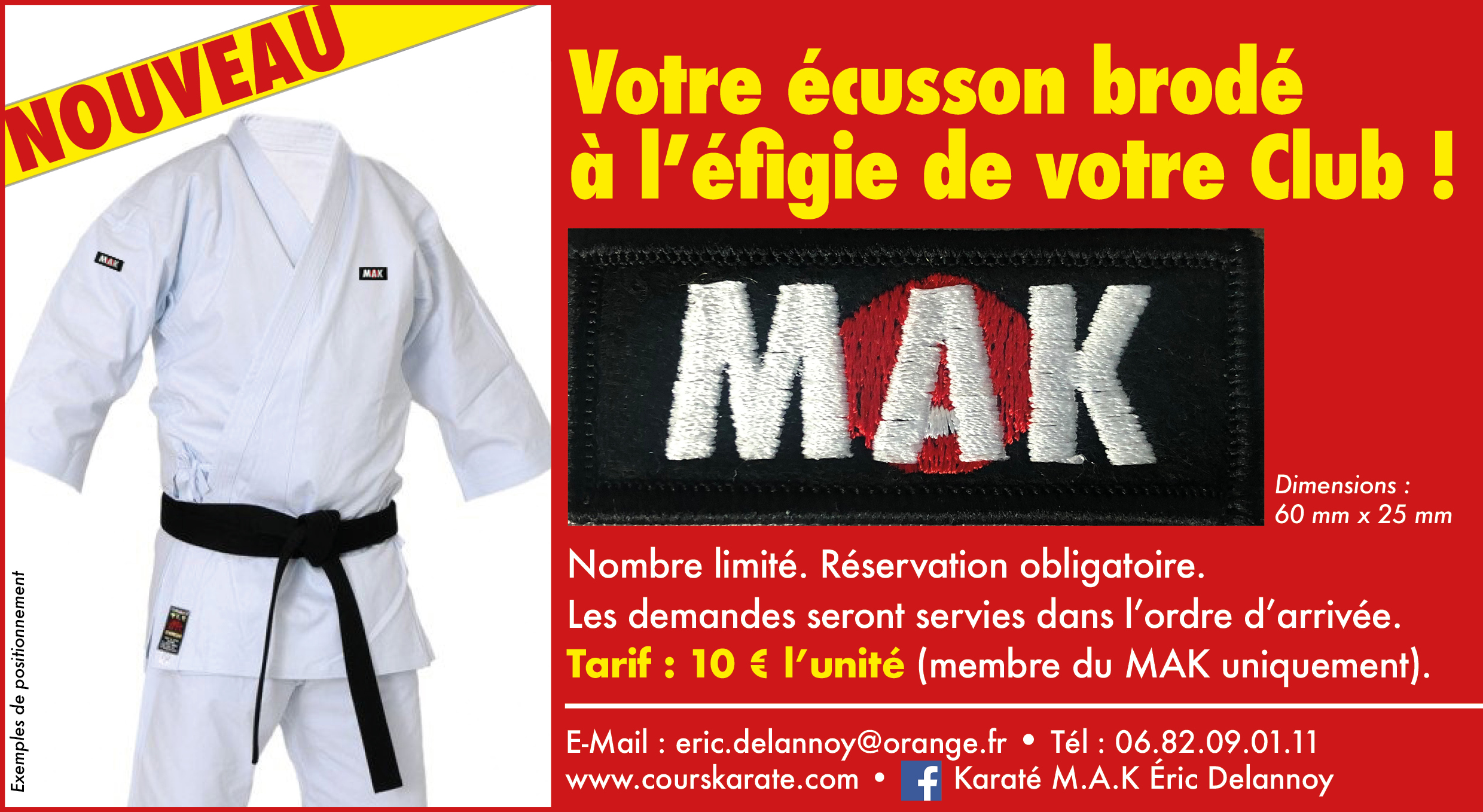 ecusson club karate