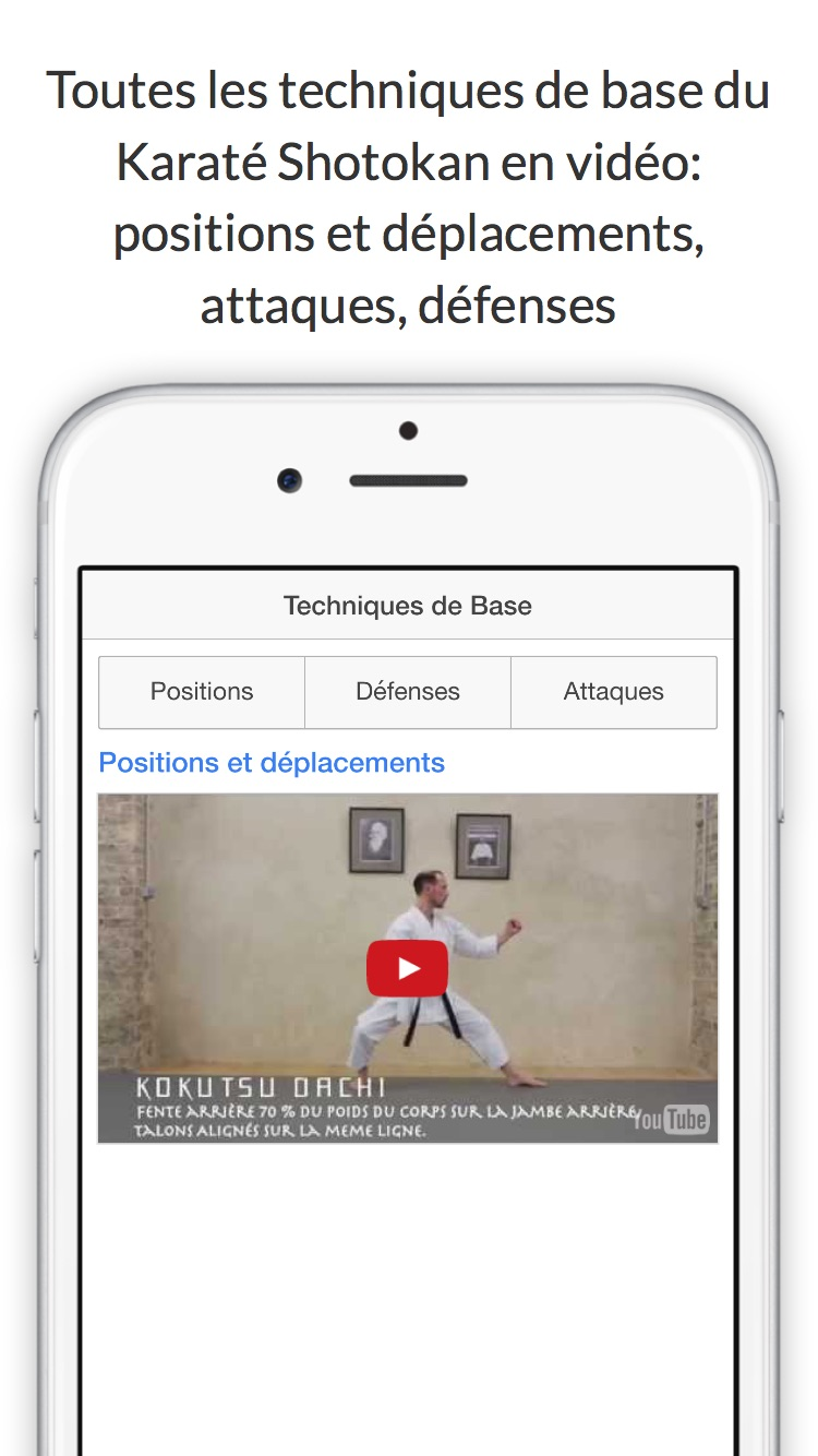 Application Iphone Passage de Grade de Karaté